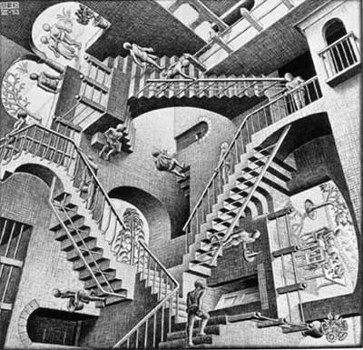 M.C. Escher - Relativity - 1953